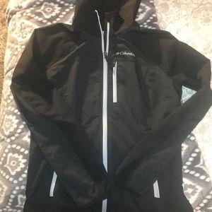 Columbia black jacket with hood